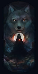Wolf Moon by mary-petroff