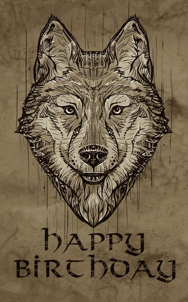 Ornamental Wolf by mary-petroff