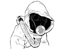 Gas Mask sketch by gravitydsn