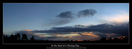 At the End of a Closing Day... by disgracian