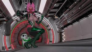 Togruta Battle Cyborg 001 by cwichura