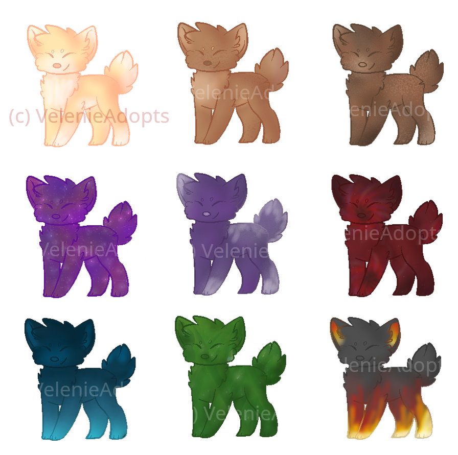 [OPEN] Small Doggies #1-#9 30 points by VelenieAdopts