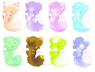 [OPEN] Fluffy Cat Foxes 30 points by VelenieAdopts
