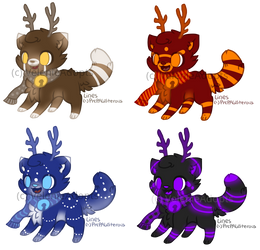 [OPEN] Reindeer Cats 40 points by VelenieAdopts