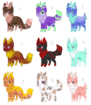 [OPEN] Deer Dogs 35 points by VelenieAdopts