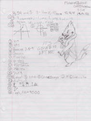 Floatzel Dines on My Homework by Cat333Pokemon
