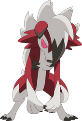 Midnight Lycanroc by Cat333Pokemon
