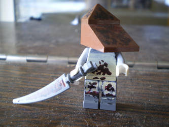 lego silent hill pyramidhead by pyramidrus
