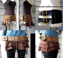 Steampunk Veggie Leather Belts by ByKato