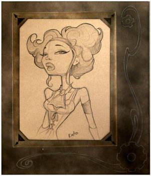 Framed Portrait Lady Gen by ByKato