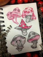 mushrooms by LeraStyajkina