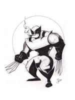 INKtober No. 12 - Wolverine by joelduggan