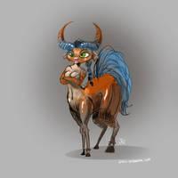 Pouty Centaur by joelduggan