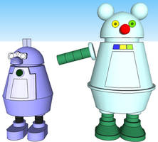 Robot Cat and Robot Mouse.skp by PapercraftKing