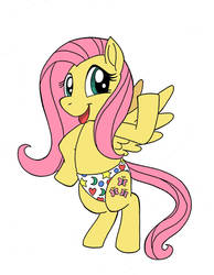 Fluttershy in gavins undies by sprucehammer