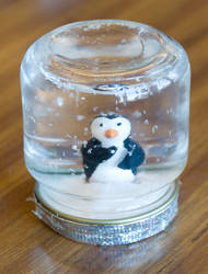 Penguin Snowglobe by frozenpandaman