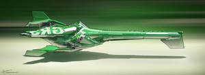 Racer ship - Green by Long-Pham
