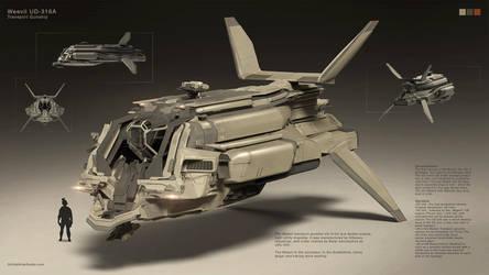 Transport Gunship by Long-Pham