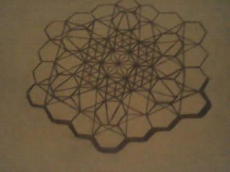 Hexagonal Snowflake by Darkblazer001