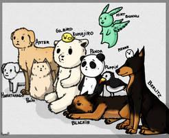 Hetalia. Animals of countries... by DarkRema
