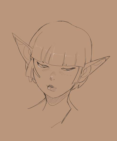 Dark Elf sketch by Clockwork7