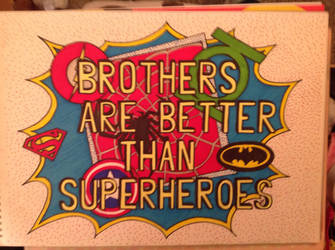 Superhero brothers by Mamakazza