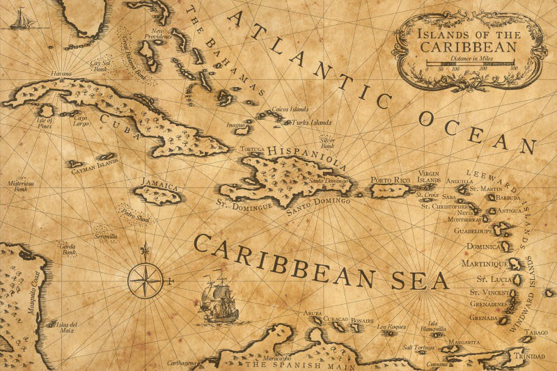 Caribbean Nautical Chart by shawnbrown