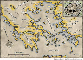 Trojan War Map by shawnbrown