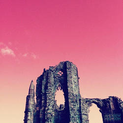 Whitby Abbey - Home of Dracula (pastelsky version) by AndrewNickson