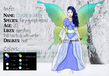 Crystal deWinter Character sheet by angela-sparkle
