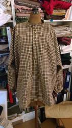 Brown Plaid Shirt by Erevanur