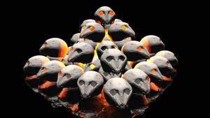 Burning Skulls by ManyardButler