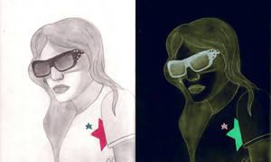 Her Polka dot glasses by Cherry189