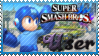 SSB Mega Man Stamp by Knightmare-Moon