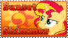 Sunset Shimmer MLP Stamp by Knightmare-Moon