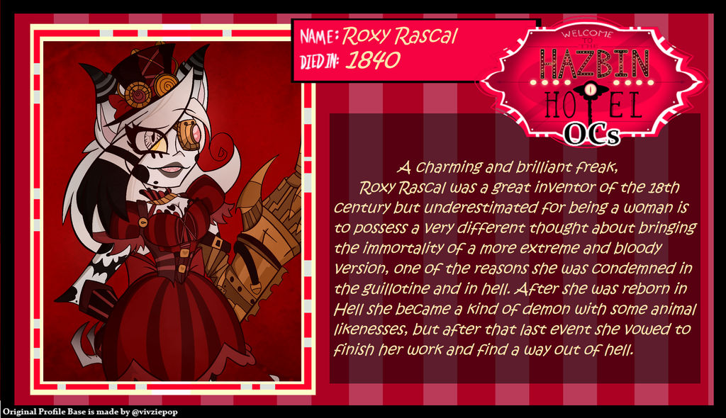 Hazbin Hotel Oc  Roxy Rascal Profile By King