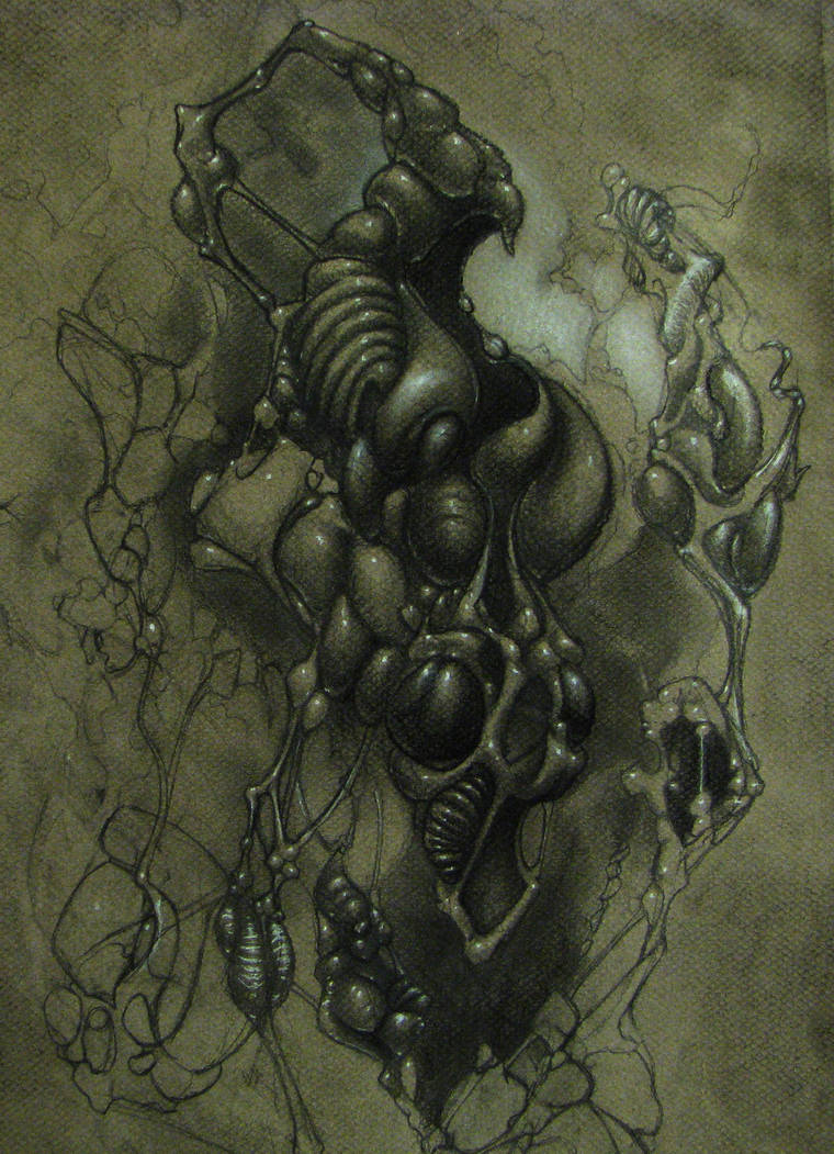 knot creature WIP by deadanna