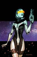 Edi of Mass Effect by Khary Randolph by AshcanAllstars