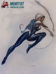 SpiderGwen by Moritat by AshcanAllstars