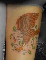 finished eagle tattoo by yayzus