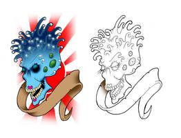 skull design by yayzus