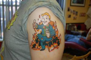 Vault boy tattoo by yayzus