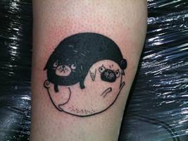 pug yinyang by yayzus