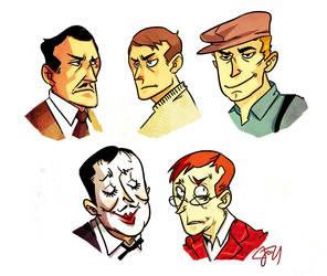 Bioshock Characters by monkeyoo