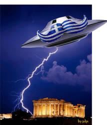 greek ufo by JohnKarnaras