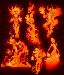 Fire Elementar by malisaa