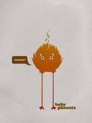 Baby pheonix by d0nnie