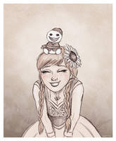 Anna with a Snowgie by Lucy--C