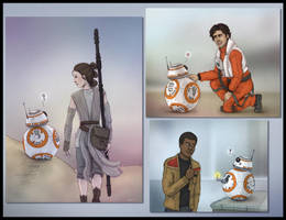 BB-8 and friends by Lucy--C