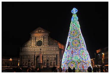 Florence - Christmas - Santa Maria Novella by Lucy--C
